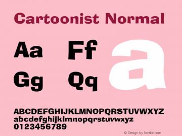 Cartoonist Normal Altsys Fontographer 4.1 5/31/96 Font Sample