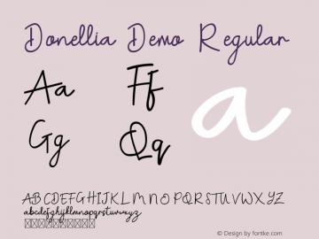 Donellia Demo Version 1.002;Fontself Maker 3.4.0图片样张
