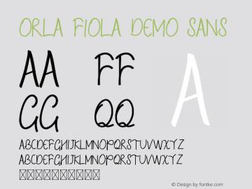 Orla Fiola Demo Sans Version 1.002;Fontself Maker 3.4.0图片样张