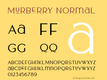 Murberry Version 001.000图片样张