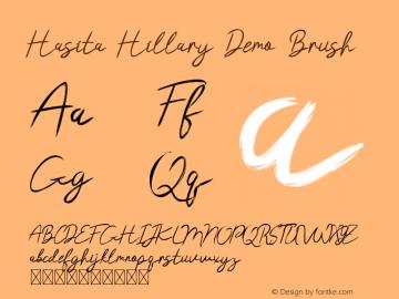 Hasita Hillary Demo Brush Version 1.002;Fontself Maker 3.4.0图片样张