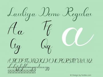 Lauliya Demo Version 1.002;Fontself Maker 3.4.0图片样张