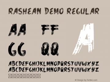 Rashean Demo Version 1.002;Fontself Maker 3.4.0图片样张