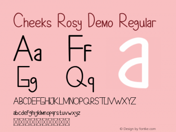 Cheeks Rosy Demo Version 1.003;Fontself Maker 3.4.0图片样张