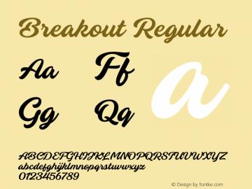 Breakout Version 1.00;March 24, 2020;FontCreator 11.5.0.2430 64-bit图片样张