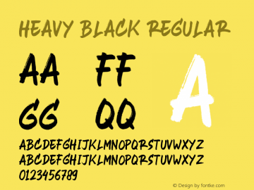Heavy Black Version 1.00;March 18, 2020;FontCreator 11.5.0.2427 64-bit图片样张
