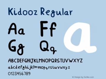 Kidooz Regular Version 001.007图片样张