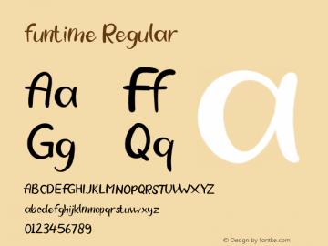 funtime Version 1.00;March 22, 2020;FontCreator 12.0.0.2545 64-bit图片样张