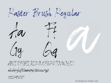 RasterBrush Version 1.000图片样张