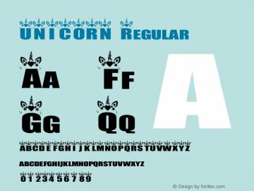 UNICORN Version 1.001;Fontself Maker 3.5.1图片样张