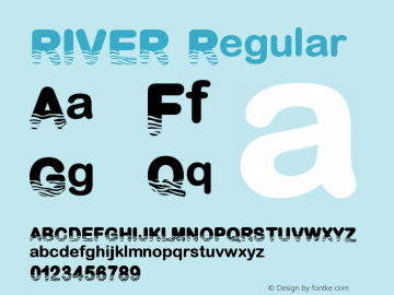RIVER Version 1.001;Fontself Maker 3.5.1图片样张