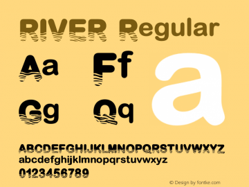 RIVER Version 1.001;Fontself Maker 3.5.1图片样张