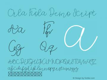 Orla Fiola Demo Script Version 1.003;Fontself Maker 3.4.0图片样张