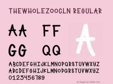 TheWholeZooCLN Version 1.002;Fontself Maker 2.3.5图片样张