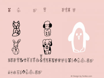 TheWholeZooDoodleCLN Version 1.002;Fontself Maker 2.3.5图片样张