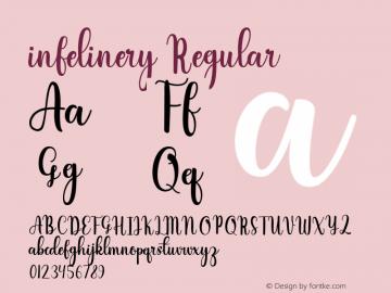infelinery Version 1.00;March 16, 2020;FontCreator 12.0.0.2525 64-bit图片样张