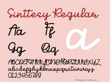 Sinttesy Version 1.00;March 22, 2020;FontCreator 13.0.0.2613 64-bit图片样张