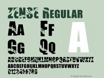 ZENSE Version 1.001;Fontself Maker 3.5.1图片样张