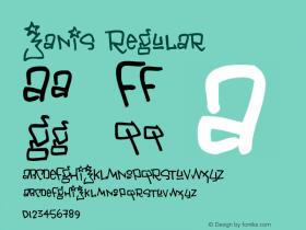 Janis Regular Macromedia Fontographer 4.1 11/19/2001 Font Sample