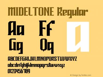 MIDELTONE Version 1.004;Fontself Maker 3.1.1图片样张