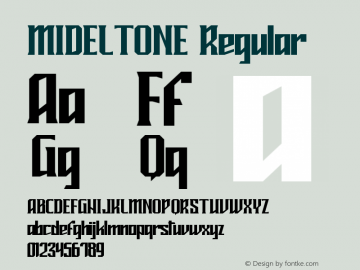 MIDELTONE Version 1.004;Fontself Maker 3.1.1图片样张