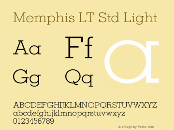 MemphisLTStd-Light OTF 1.029;PS 001.002;Core 1.0.33;makeotf.lib1.4.1585图片样张