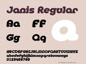 Janis Regular Macromedia Fontographer 4.1 5/6/96 Font Sample