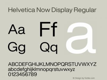 Helvetica Now Display Version 1.001, build 8, s3图片样张