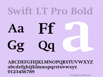 SwiftLTPro-Bold Version 1.100;PS 001.001;hotconv 1.0.38图片样张