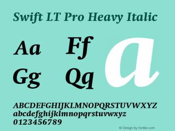 SwiftLTPro-HeavyItalic Version 1.100;PS 001.001;hotconv 1.0.38图片样张
