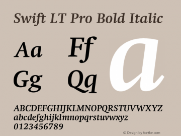 SwiftLTPro-BoldItalic Version 1.100;PS 001.001;hotconv 1.0.38图片样张