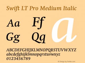SwiftLTPro-MediumItalic Version 1.100;PS 001.001;hotconv 1.0.38图片样张