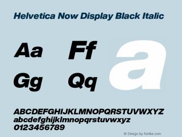 Helvetica Now Display Blk It Version 1.001, build 8, s3图片样张