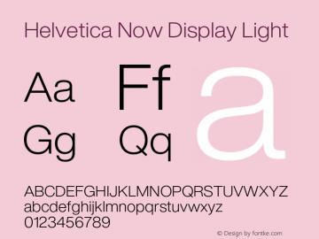 Helvetica Now Display Light Version 1.001, build 8, s3图片样张
