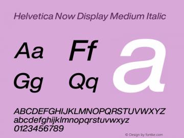 Helvetica Now Display Md It Version 1.001, build 8, s3图片样张