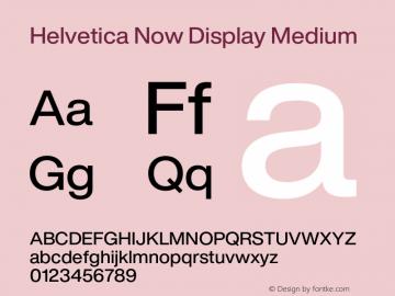 Helvetica Now Display Medium Version 1.001, build 8, s3图片样张