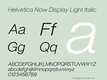 Helvetica Now Display Lt It Version 1.001, build 8, s3图片样张
