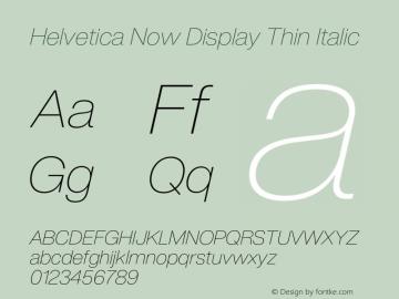 Helvetica Now Display Th It Version 1.001, build 8, s3图片样张