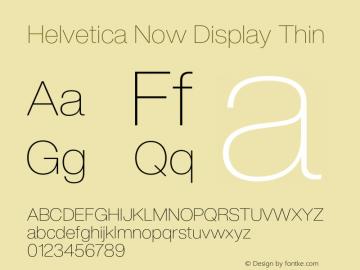 Helvetica Now Display Thin Version 1.001, build 8, s3图片样张