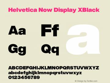 Helvetica Now Display XBlack Version 1.001, build 8, s3图片样张