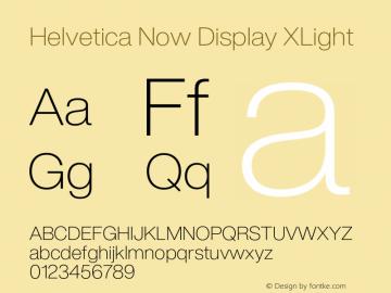 Helvetica Now Display XLight Version 1.001, build 8, s3图片样张
