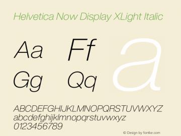 Helvetica Now Display XLt It Version 1.001, build 8, s3图片样张