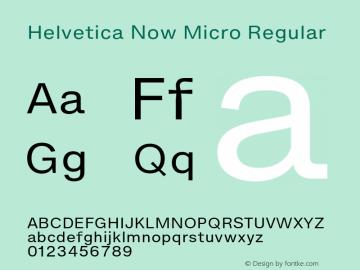 Helvetica Now Micro Version 1.001, build 8, s3图片样张