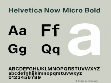 Helvetica Now Micro Bold Version 1.001, build 8, s3图片样张