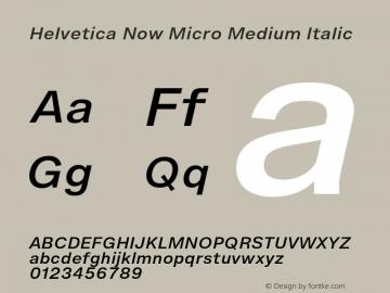 Helvetica Now Micro Md It Version 1.001, build 8, s3图片样张