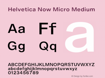 Helvetica Now Micro Medium Version 1.001, build 8, s3图片样张