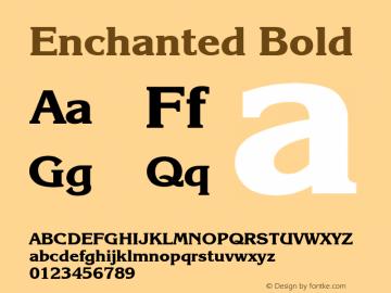 Enchanted Bold Font Version 2.6; Converter Version 1.10 Font Sample
