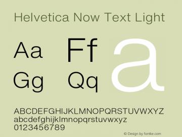 Helvetica Now Text Light Version 1.001, build 8, s3图片样张