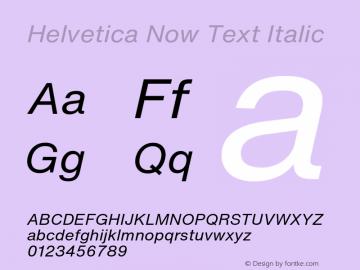 Helvetica Now Text It Version 1.001, build 8, s3图片样张