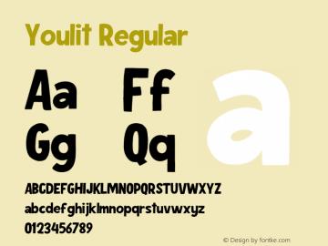 Youlit Regular Version 1.000;PS 001.000;hotconv 1.0.88;makeotf.lib2.5.64775图片样张